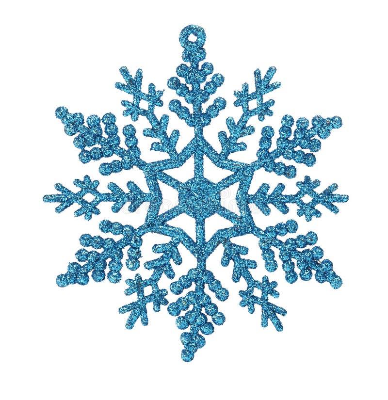 Ornamento azul de la Navidad de la escama de la nieve aislado en el fondo blanco imágenes de archivo libres de regalías
