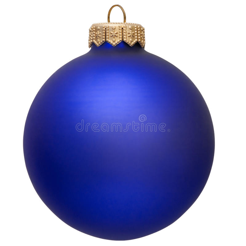 Ornamento azul do Natal. fotografia de stock