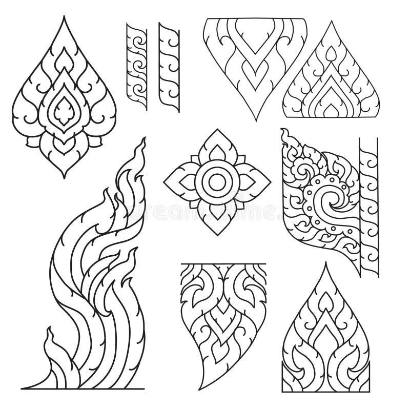 Ornamento básico tailandês ilustração stock