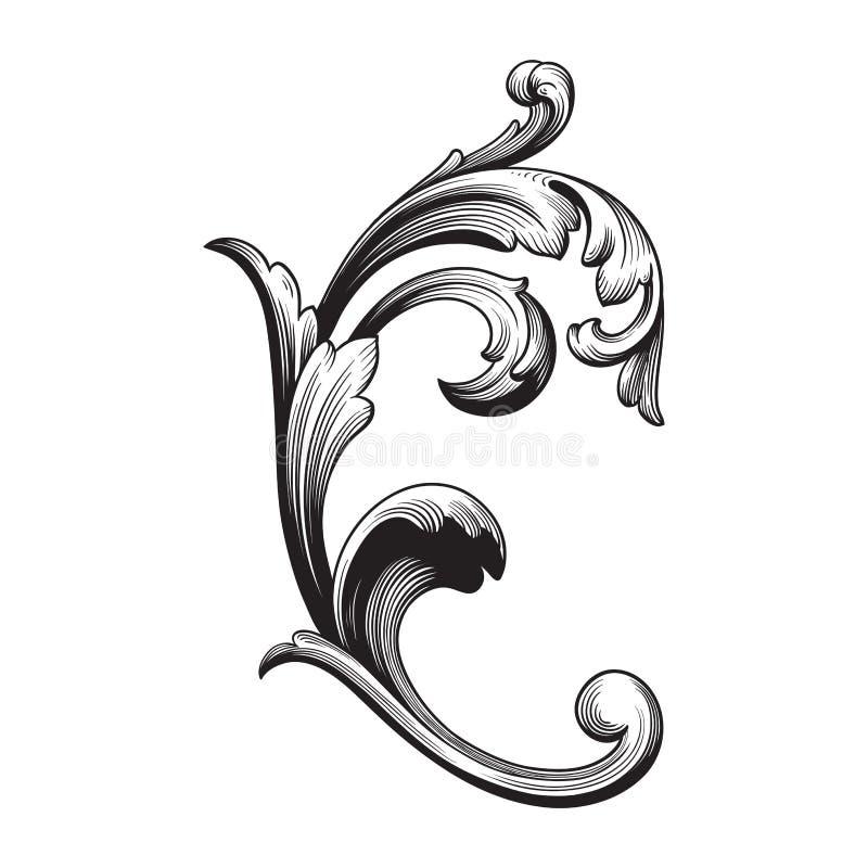 Ornamento barrocco di vettore nello stile vittoriano royalty illustrazione gratis
