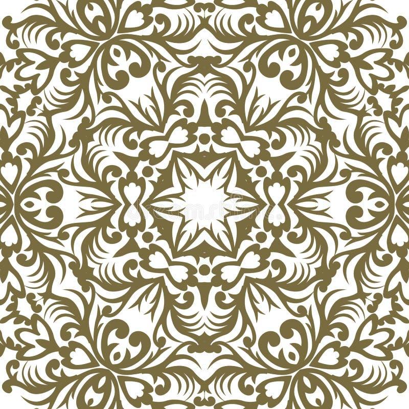 Ornamento barrocco di vettore nello stile vittoriano Elemento decorato per la d royalty illustrazione gratis