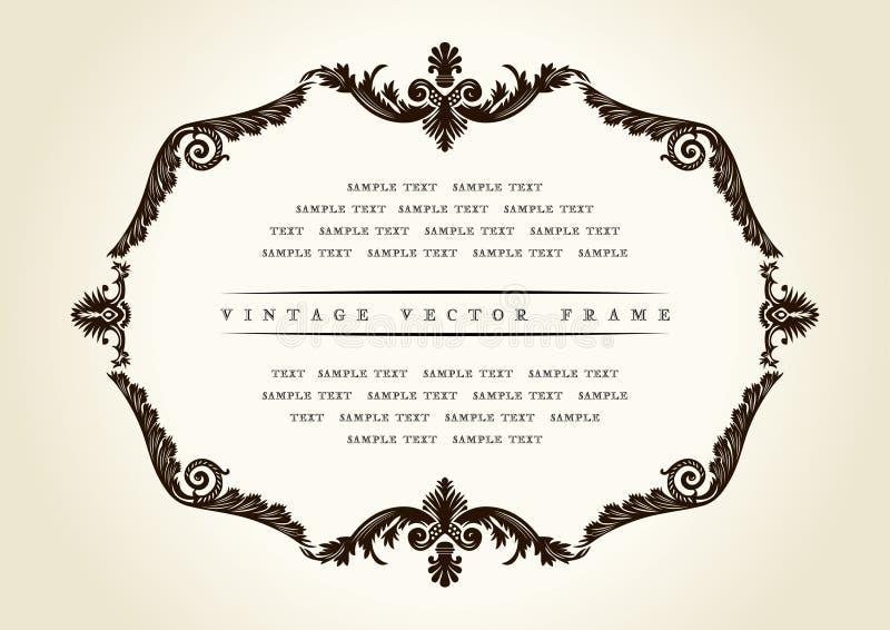 Ornamento barroco da decoração do frame do vintage do vetor ilustração royalty free