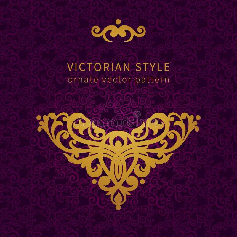Ornamento barroco do vetor no estilo vitoriano ilustração royalty free