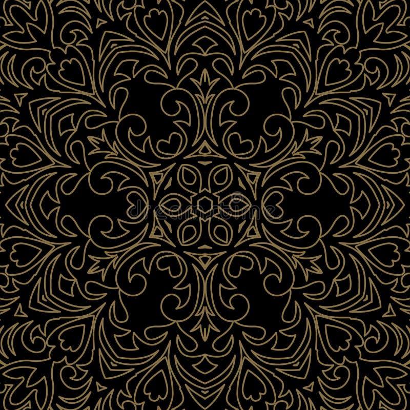 Ornamento barroco do vetor no estilo vitoriano Elemento ornamentado para d ilustração royalty free