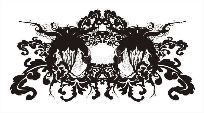 Ornamento barroco floral abstracto stock de ilustración