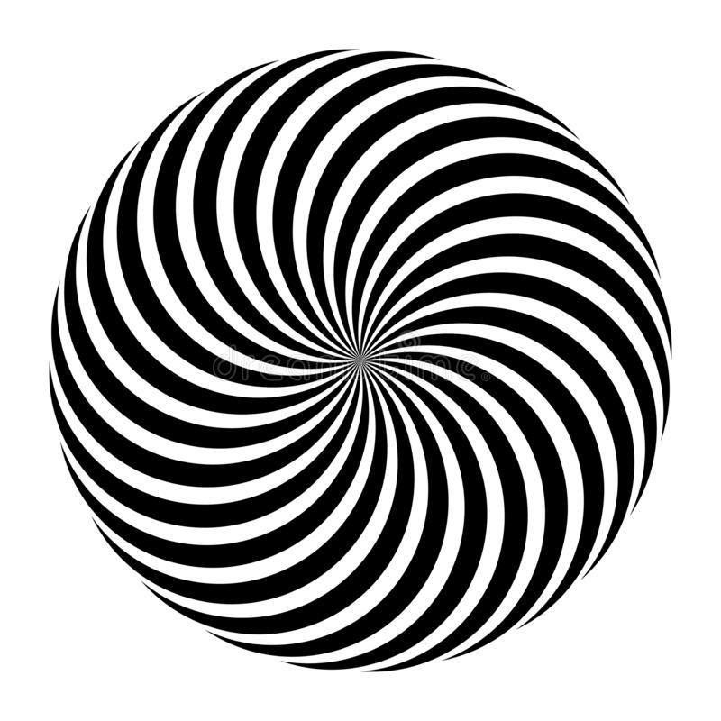 Ornamento in bianco e nero della mandala di vettore dell'estratto, progettazione concentrare circolare, illustrazione illustrazione di stock