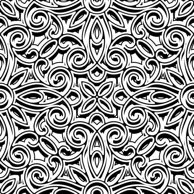 Ornamento blanco y negro del vintage, modelo inconsútil libre illustration