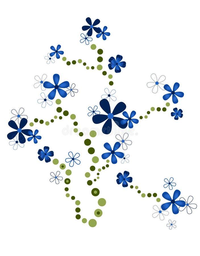 Ornamento blu del fiore illustrazione vettoriale