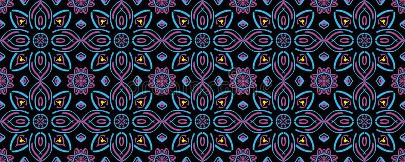 Ornamento brilhante de repetição infinito sem emenda de formas geométricas multi-coloridas ilustração do vetor