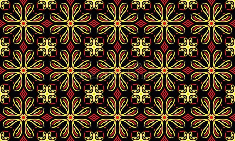 Ornamento brilhante de repetição infinito sem emenda de formas geométricas multi-coloridas ilustração royalty free