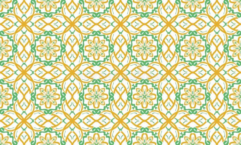Ornamento brillante de repetición sin fin inconsútil de formas geométricas multicoloras stock de ilustración