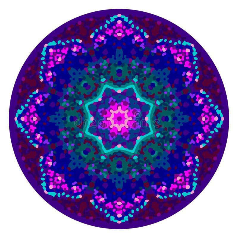 Ornamento calidoscópico da mandala ilustração royalty free