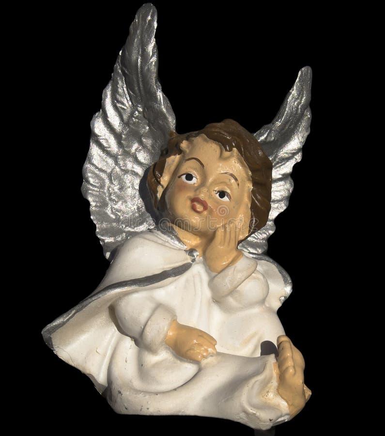Ornamento ceramico dell'albero di Natale di angelo fotografia stock libera da diritti
