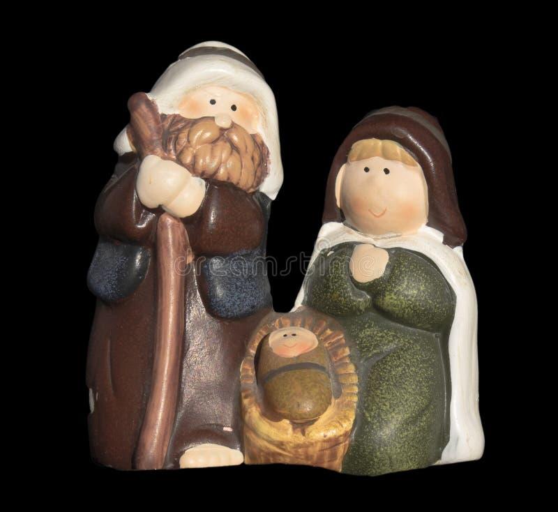 Ornamento ceramico di Natale di natività fotografia stock