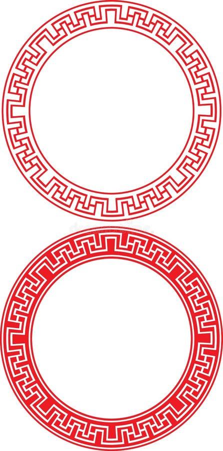 Ornamento cinese del cerchio royalty illustrazione gratis