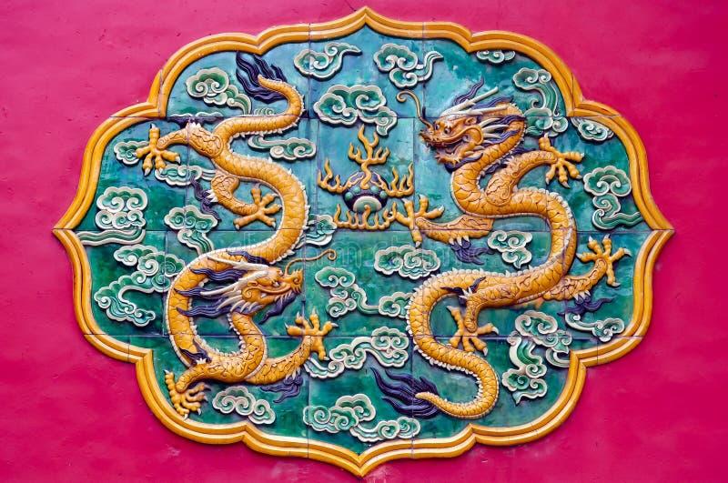 Ornamento cinese variopinto del drago fotografia stock libera da diritti