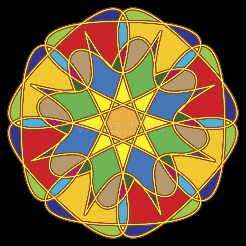 Ornamento circular. ilustração royalty free