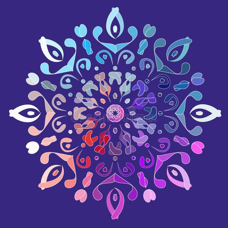 Ornamento circular colorido do Natal para a estrela ilustração royalty free