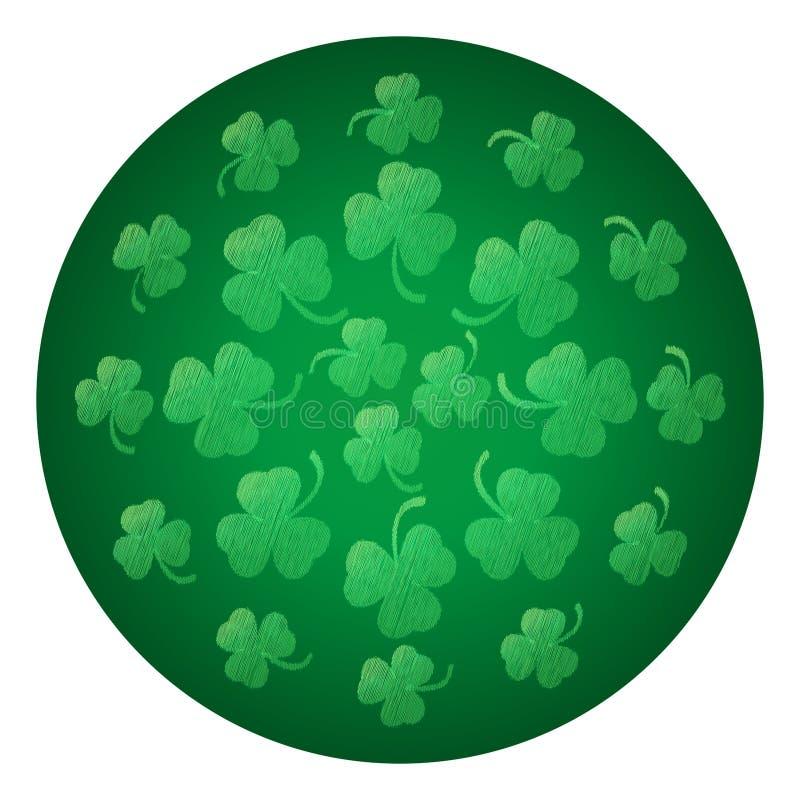 Ornamento circular das folhas do trevo ilustração royalty free