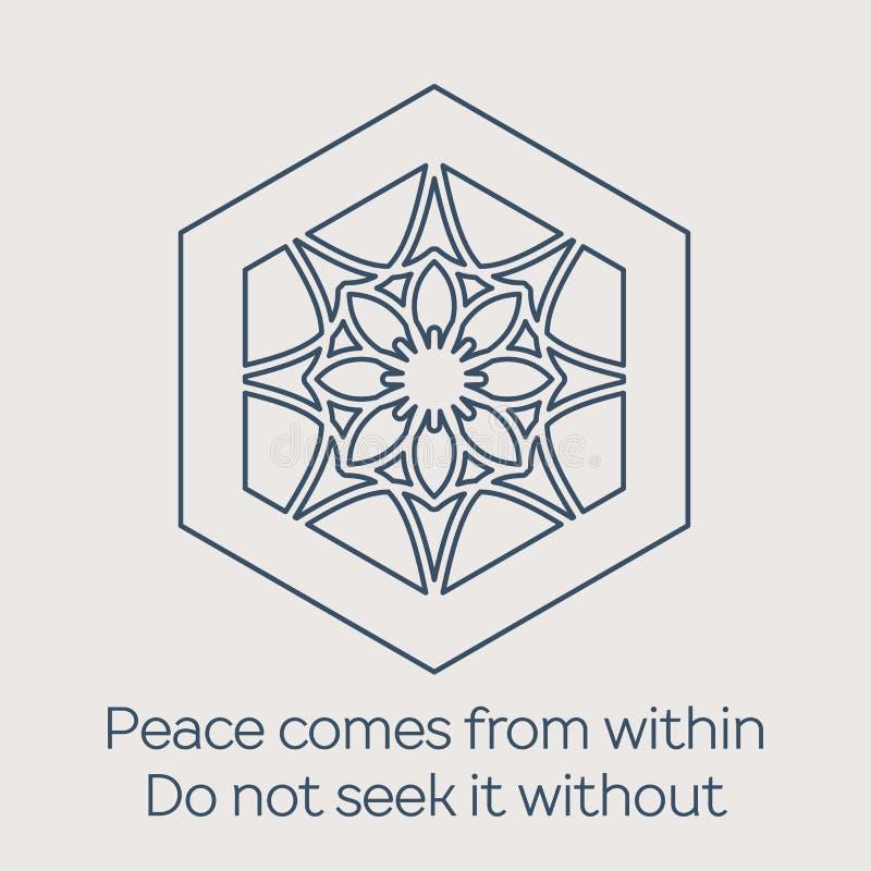 Ornamento circular religioso del vector ilustración del vector