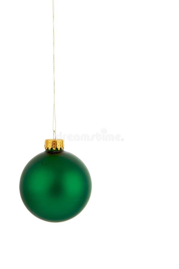 Ornamento colgante verde de la Navidad foto de archivo