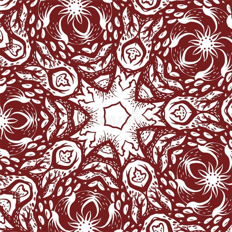 Ornamento complesso, disegno monocromatico di vettore, struttura mistica illustrazione vettoriale
