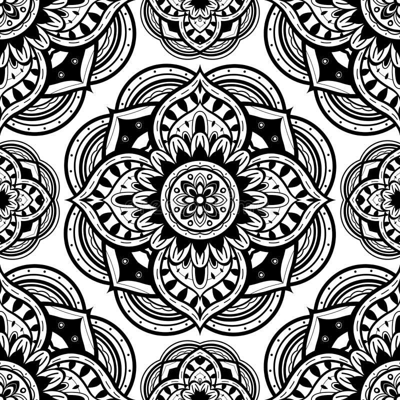 Ornamento con gli elementi rotondi illustrazione vettoriale