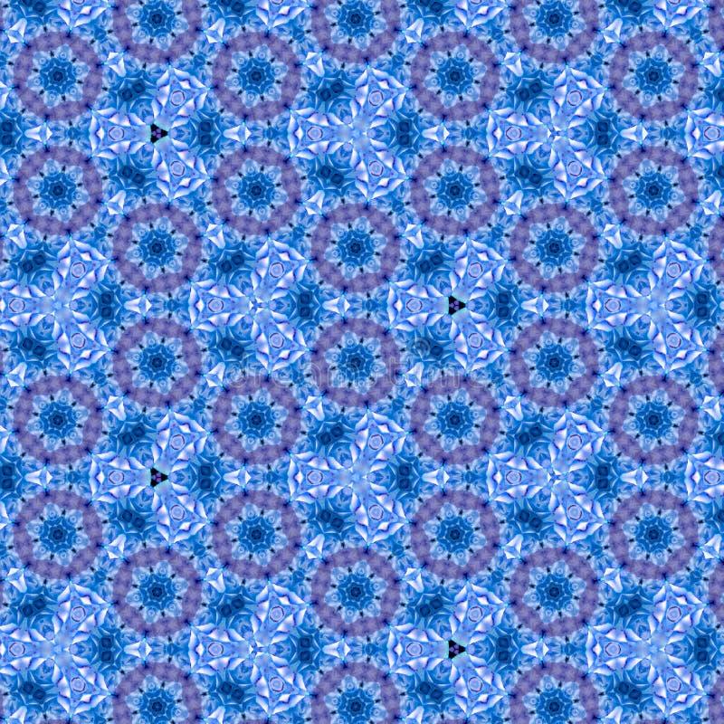 Ornamento contínuo azul floral com efeito 3d ilustração do vetor