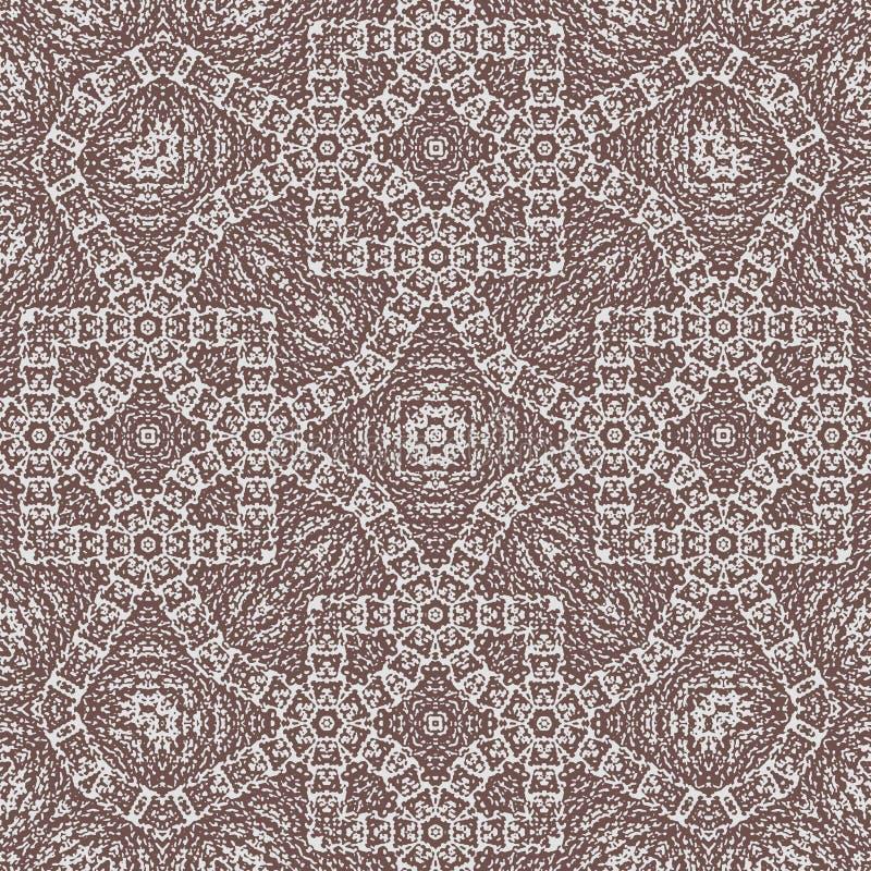 Ornamento cruzado egipcio abstracto del monocromo del estilo de Zentangle stock de ilustración