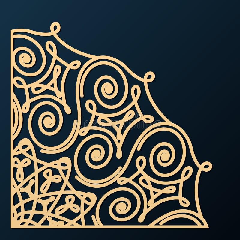 Ornamento d'angolo decorativo Elemento di disegno royalty illustrazione gratis