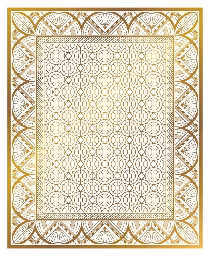 Ornamento d'annata di art deco royalty illustrazione gratis
