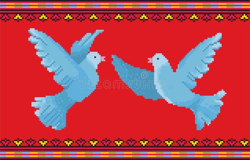Ornamento D della colomba fotografie stock libere da diritti