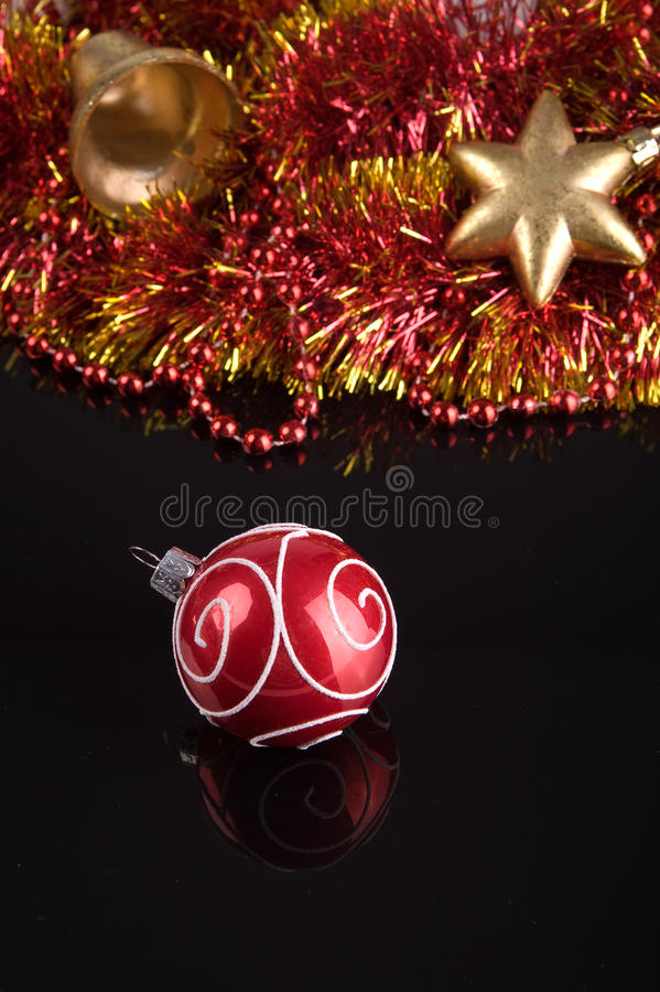 Ornamento da árvore de Natal imagens de stock