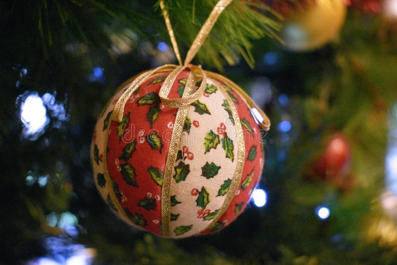 Ornamento da árvore de Natal foto de stock