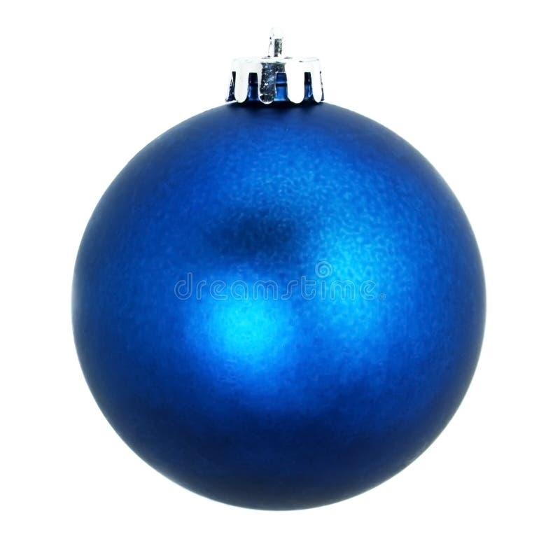 Ornamento da árvore de Natal Esfera decorativa Isolado no fundo branco imagens de stock royalty free