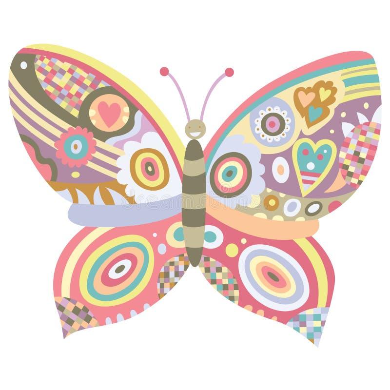 Ornamento da borboleta ilustração royalty free