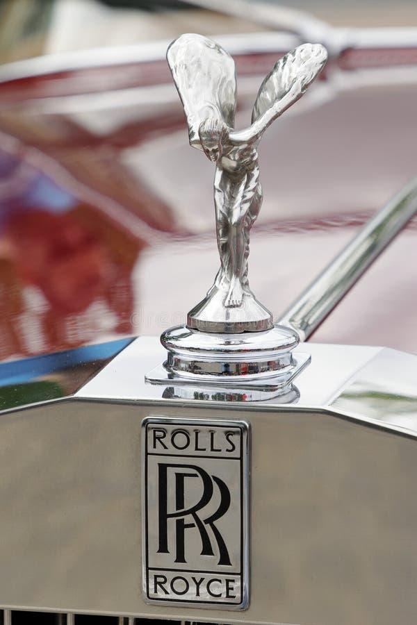 Ornamento da capa da sombra de prata II 1977 - 1980 de Rolls royce foto de stock royalty free