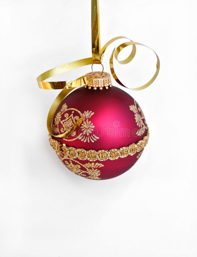 Ornamento da decoração do Natal do feriado foto de stock