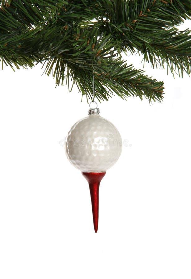 Ornamento da esfera de golfe fotografia de stock