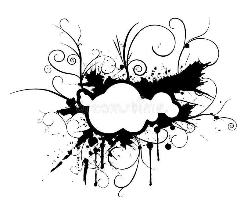 Ornamento da flor de Grunge ilustração stock