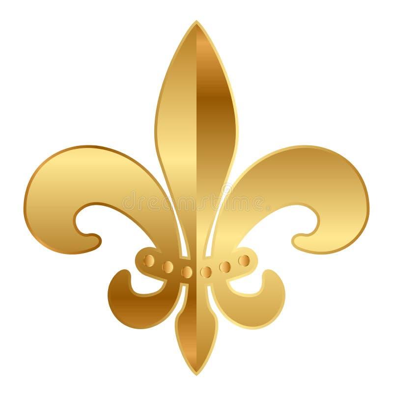 Ornamento da flor de lis ilustração royalty free