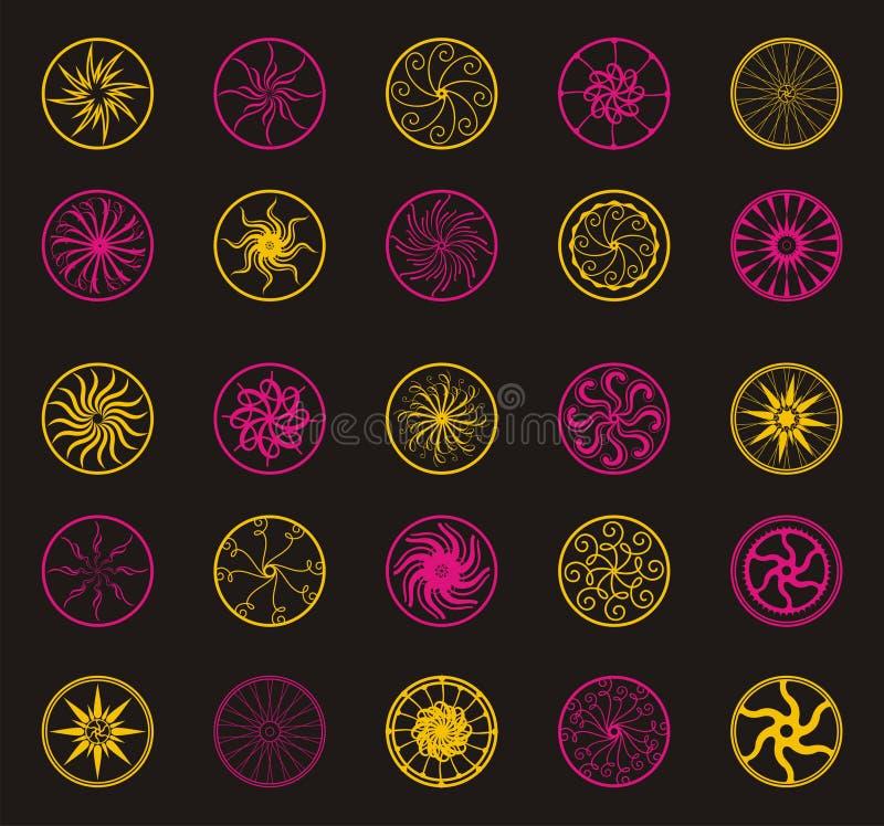 Ornamento da flor do vetor do círculo ilustração royalty free