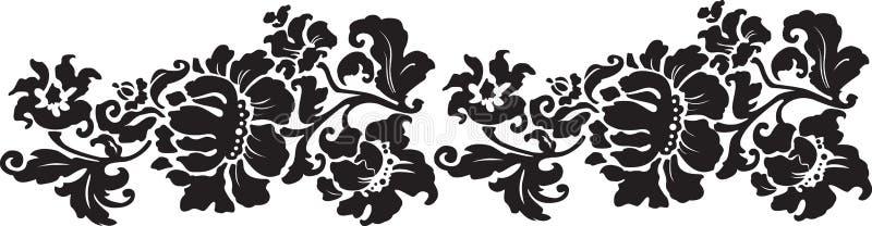Ornamento da flor do vintage ilustração royalty free