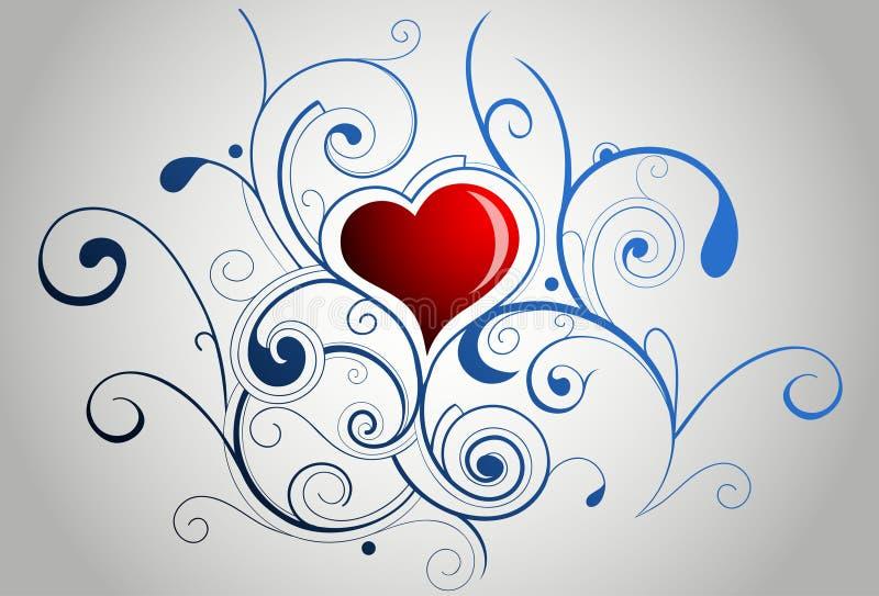 Ornamento da forma do coração ilustração stock