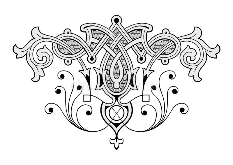 Ornamento da gravura ilustração royalty free