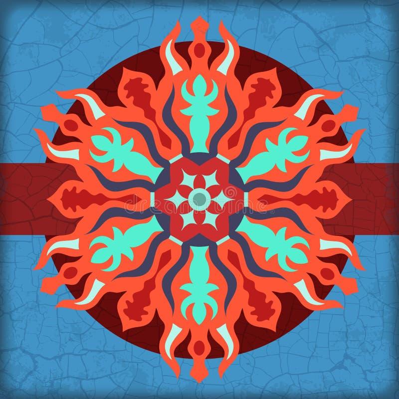 Ornamento da laranja do círculo ilustração stock