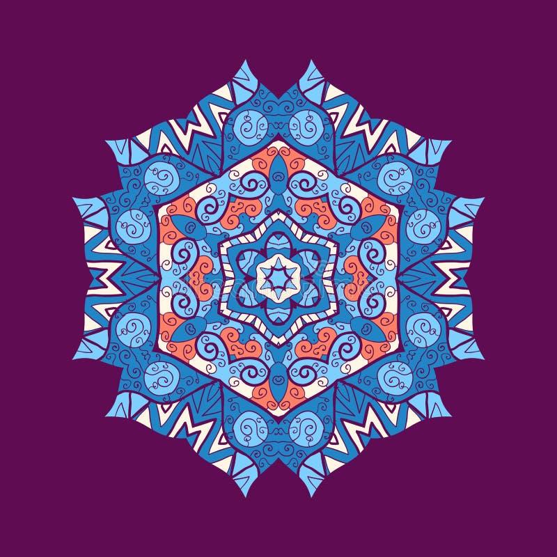 Ornamento da mandala com espaço para seu texto. Vetor ilustração royalty free