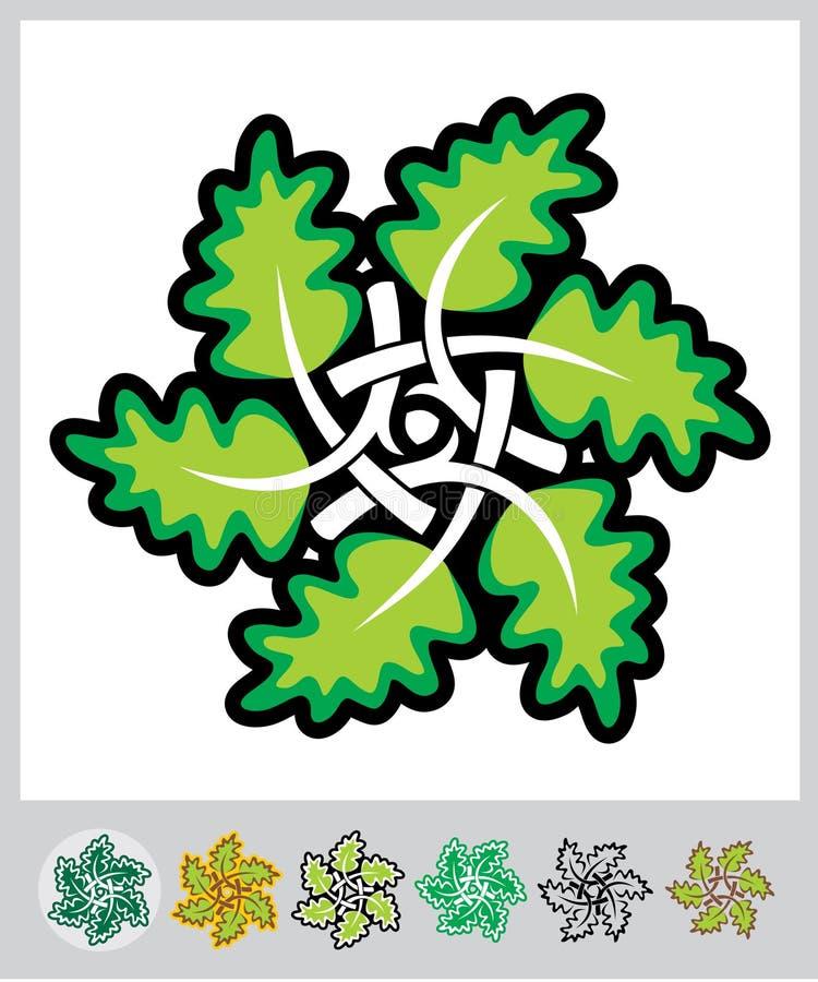 Ornamento das folhas ilustração stock