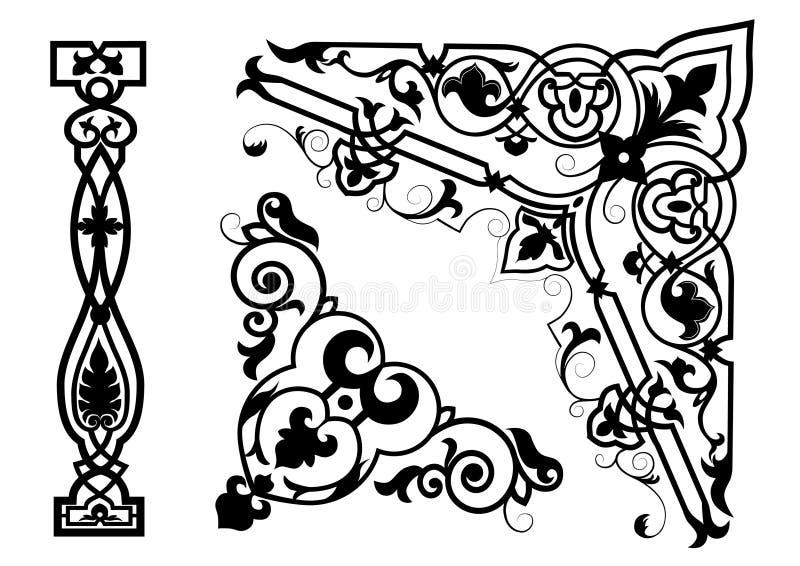 Ornamento de Byzantium ilustração do vetor