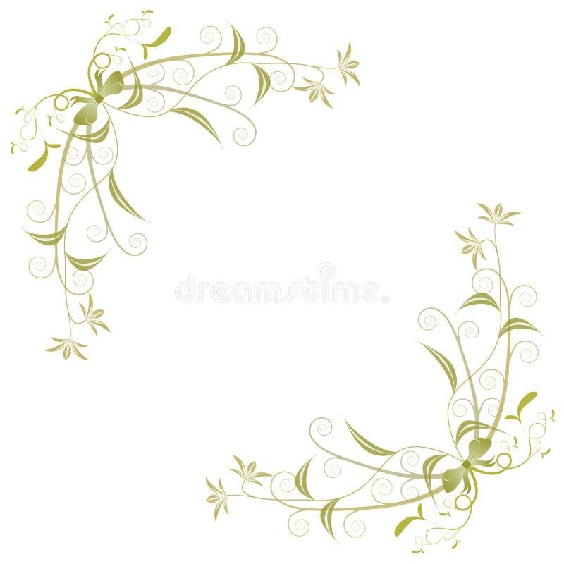 Ornamento de canto ilustração royalty free